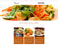 Piquant Restaurant Website Concept