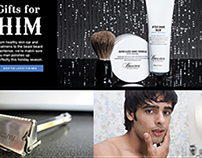 "Website for The ""Old Town"" Shaving Company"