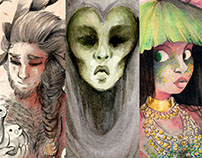 Watercolor Mythological Creatures