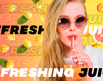 New juice promotion banner