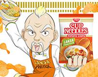 Nissin Laksa Potato Chips
