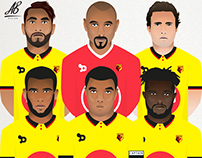Watford Football Club Player Illustrations