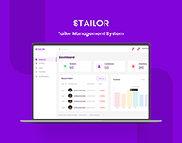 Tailor Management Web App Design