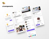 Event Management app - UI cards - WIP