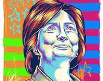 Hillary Clinton Editorial Illustration: Offset