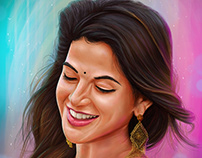 Iswarya Menon| Portrait Digital Painting