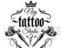 """Logotipo desenvolvido para """"Ney Tatoo"""" Studio tatoo."""