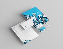 Modern Geometric Blue Stationery