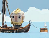 Fishing Viking Gif