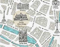 Paris wedding map