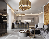 Luxury living apartments. Design for INEX Studio