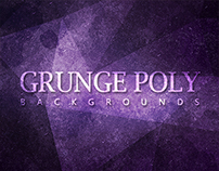 12 Grunge Poly Backgrounds - $4