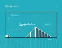 Digital ideas agency website concept