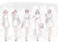Fashion illustration for the website banner