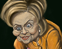 """My Precious"" Hillary Clinton Digital Painting"