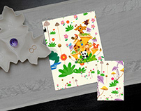 Floral illustration pattern for Card design