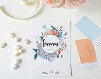 Floral Circle - Wedding Invitation