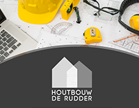 logo for Construction company houtbouw de rudder