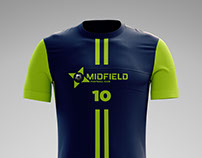 Midfield Football Club - Logo and Soccer Kit Design