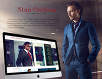 Web market for men's suits Onilova TM Sevastopol