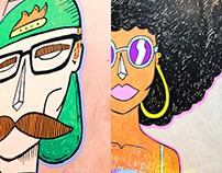 ilustração personas // hey joe food 'n' bar