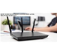 FIX NO INTERNET CONNECTION