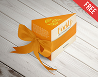 Cake Packaging Gift Box – Free PSD Mockup