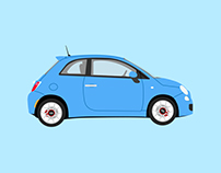 L'histoire de la FIAT 500 - Illustration