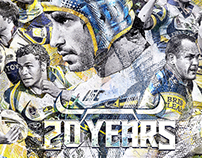 """20 Years"" NQ Cowboys Artwork"