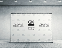 3D Press Wall / Banner Mock Up