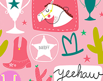 Cowgirl Print and Pattern Collection // Character Art