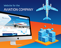 Website for the Aviation Company