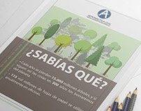 """Campaña ecológica """"Menos papel más ambiente"""" Aerocivil"""