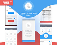 FREE EstimationApp UI KIT. psd