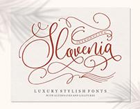 Free Slovenia Scrip Font