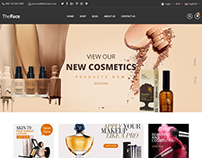 TheFace - Beauty & Cosmetics eCommerce Bootstrap 4 Temp