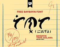 BAYBAYIN TINTA IKALAWA Free Font