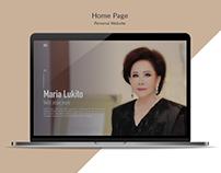 Personal Website - Maria Lukito