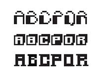 Pixels Font Design