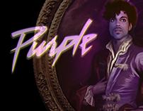 """Purple Pain"", PRINCE vinyl poster 31.43 cm square"