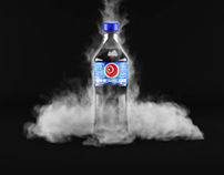 Dry Ice Simulation Soda Drink 3D Product Animation