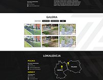 Project of website for modern fences.