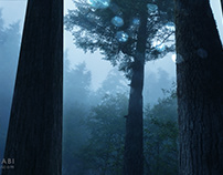 Forest 02 set extension matte painting