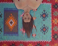 Kilim, 2015, oil on canvas