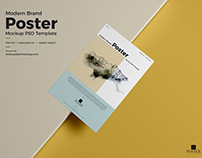 Texture Paper Brand Poster Mockup Free