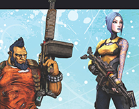 Borderlands 2 Holiday Card Design