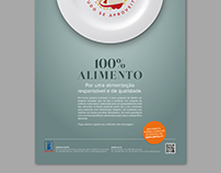 """100% Alimento"" Press Ad"