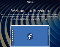 Redesigned for Fedora landing page