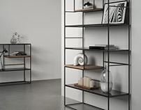 Shelves in natural steel - Product Design