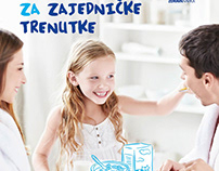 Campaign visual for dairy brand Dukat, proposition